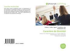 Capa do livro de Caractère de Dirichlet