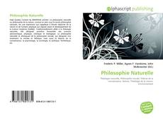 Bookcover of Philosophie Naturelle