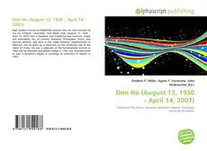 Bookcover of Don Ho (August 13, 1930 – April 14, 2007)