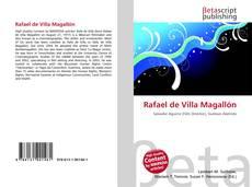 Bookcover of Rafael de Villa Magallón