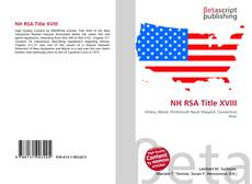 Copertina di NH RSA Title XVIII