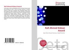 Bookcover of Rafi Ahmed Kidwai Award