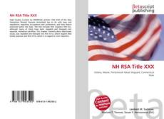 Bookcover of NH RSA Title XXX