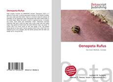 Bookcover of Oenopota Rufus