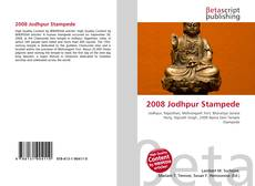 Bookcover of 2008 Jodhpur Stampede