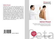 Buchcover von Adrien Proust