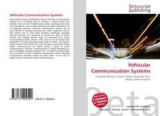 Bookcover of Vehicular Communication Systems