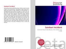 Bookcover of Sainbari Incident