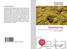 Bookcover of Quacking Frog