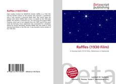 Raffles (1930 Film) kitap kapağı