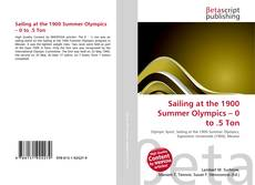 Portada del libro de Sailing at the 1900 Summer Olympics – 0 to .5 Ton