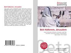 Buchcover von Beit HaKerem, Jerusalem