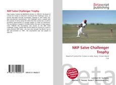 Bookcover of NKP Salve Challenger Trophy