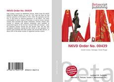 Couverture de NKVD Order No. 00439
