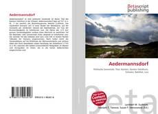 Capa do livro de Aedermannsdorf
