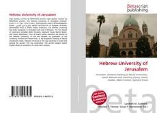Buchcover von Hebrew University of Jerusalem