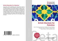 Bookcover of British Mandate for Palestine