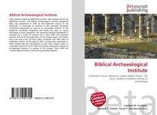 Couverture de Biblical Archaeological Institute