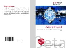 Bookcover of Ayam (software)