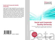 Bookcover of Social and Corporate Quality University