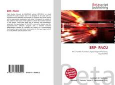 Bookcover of BRP- PACU