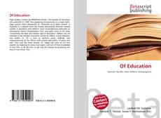 Bookcover of Of Education