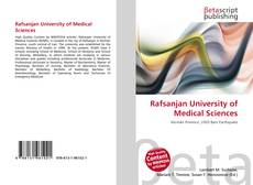 Bookcover of Rafsanjan University of Medical Sciences