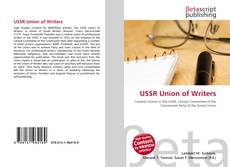 Bookcover of USSR Union of Writers