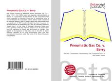 Capa do livro de Pneumatic Gas Co. v. Berry