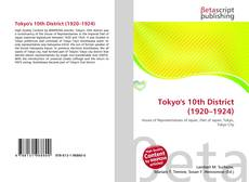 Bookcover of Tokyo's 10th District (1920–1924)