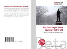 Buchcover von Russian Ship Caesar Kunikov (BDK-64)