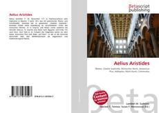 Bookcover of Aelius Aristides