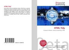 Couverture de HTML Tidy