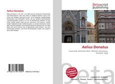 Bookcover of Aelius Donatus