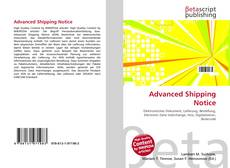 Bookcover of Advanced Shipping Notice