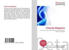 Copertina di Velocity Magazine