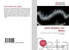 Buchcover von Saint- Antonin- sur- Bayon