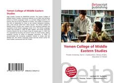 Bookcover of Yemen College of Middle Eastern Studies