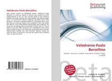 Buchcover von Velodromo Paolo Borsellino