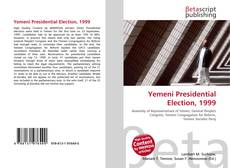 Bookcover of Yemeni Presidential Election, 1999