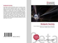 Copertina di Walpole Society