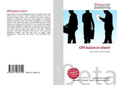 Bookcover of Off-balance-sheet