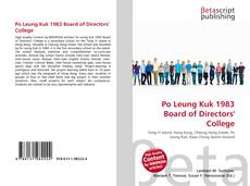 Bookcover of Po Leung Kuk 1983 Board of Directors' College