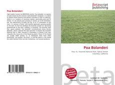Capa do livro de Poa Bolanderi