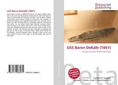 Portada del libro de USS Baron DeKalb (1861)