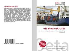 Capa do livro de USS Beatty (DD-756)
