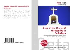Capa do livro de Siege of the Church of the Nativity in Bethlehem