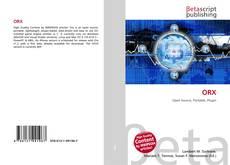Buchcover von ORX
