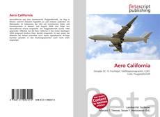Capa do livro de Aero California