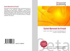 Saint-Bonnet-le-Froid kitap kapağı